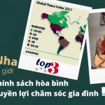 Bồ Đào Nha: Xếp hạng đẳng cấp Thế giới về chính sách hòa bình và gia đình